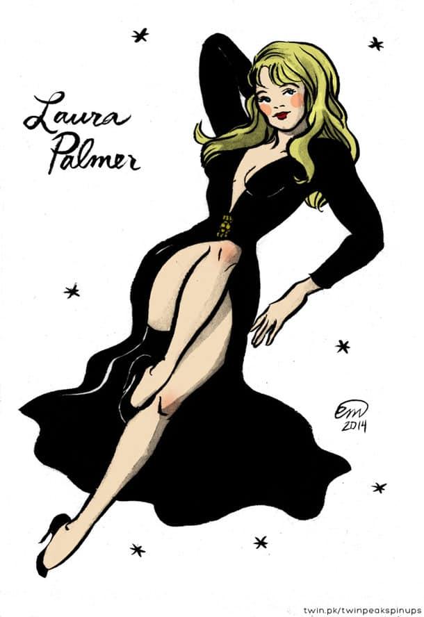 Laura Palmer pin-up girl