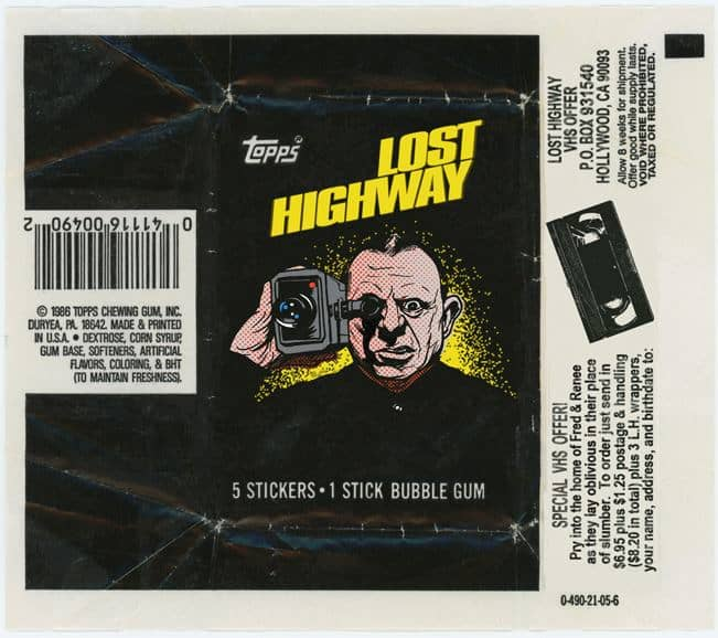 Lost Highway fake trading card wrapper