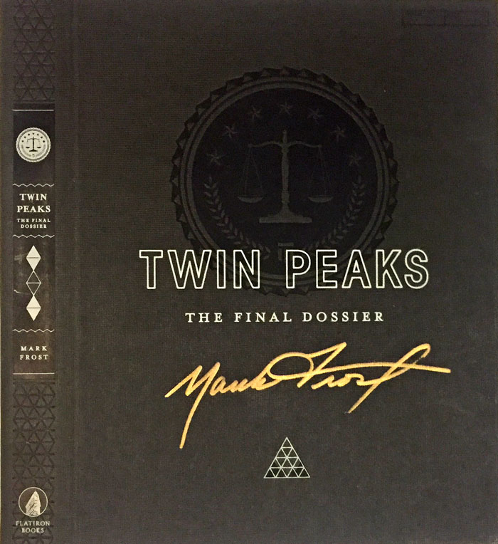 Mark Frost - The Final Dossier autographed book jacket