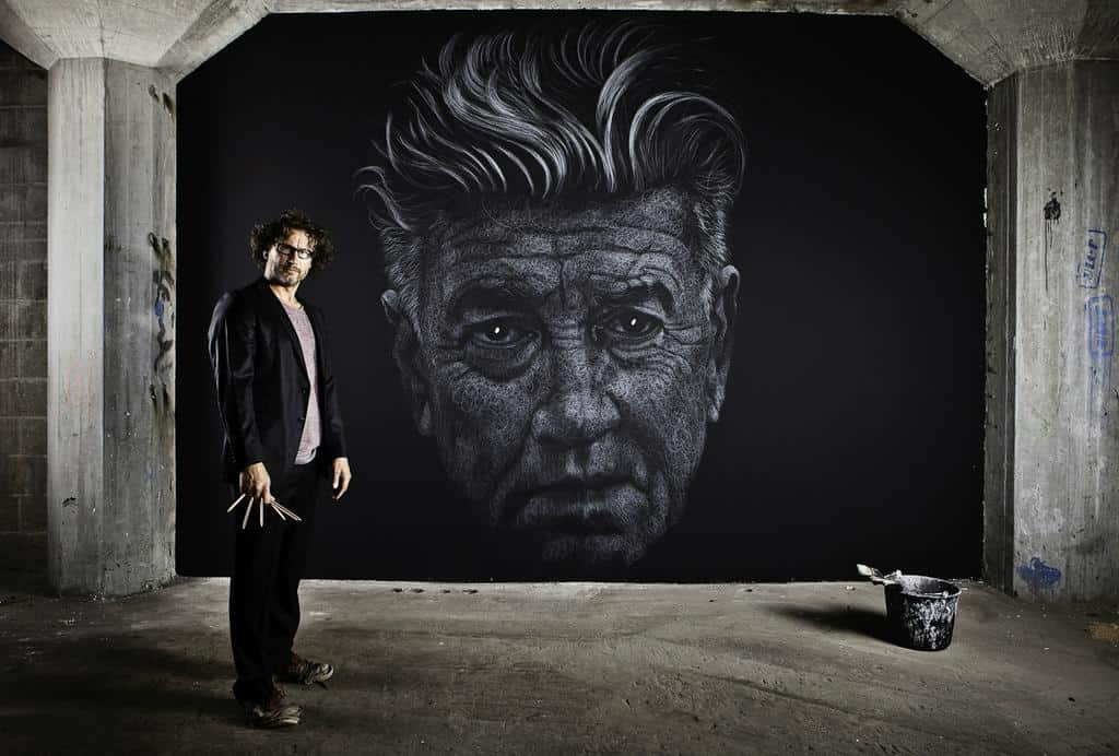 Time-Lapse Shows Genesis Of David Lynch Chalk Mural
