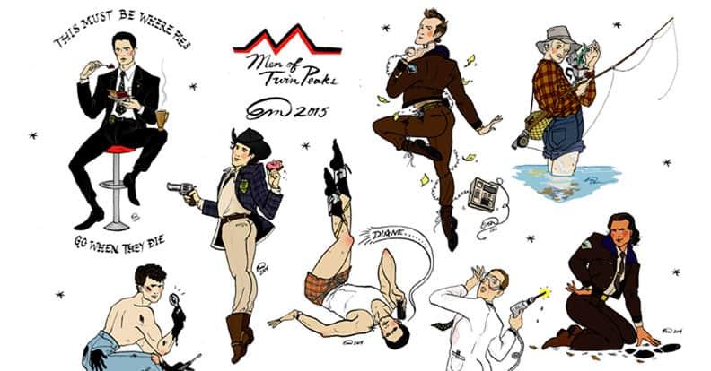 Men of Twin Peaks pin-ups