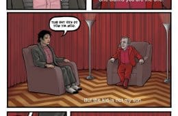 Michael Jackson in the Twin Peaks Red Room