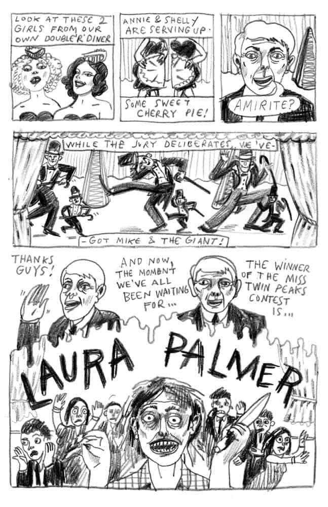 Miss Twin Peaks by Gant Powell (3rd panel)