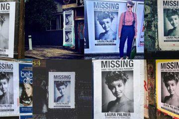 Missing Laura Palmer posters in Sydney, Australia