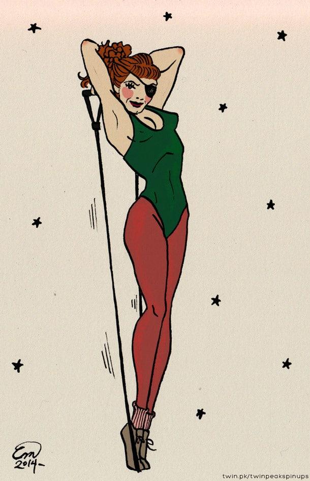 Nadine Hurley pin-up