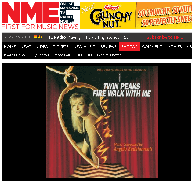 Twin Peaks: Fire Walk With Me best soundtrack ever according to NME