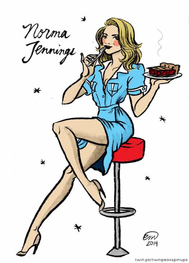 Norma Jennings pin-up