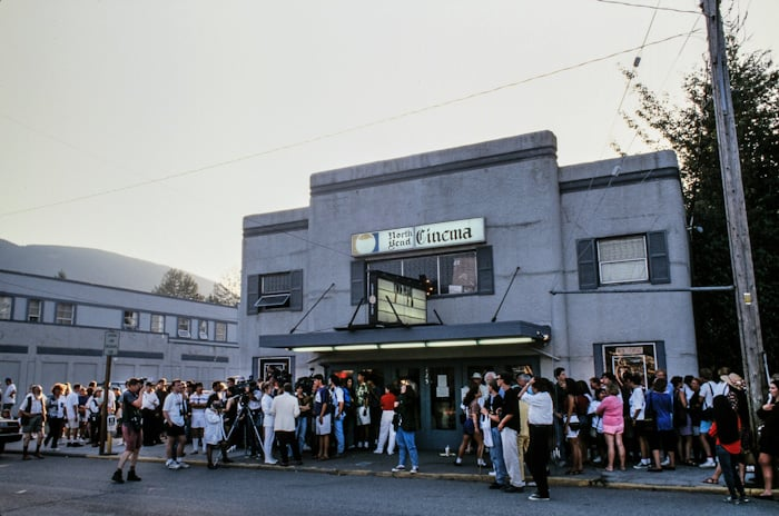 Outside North Bend Cinema for the Twin Peaks: Fire Walk With Me premiere