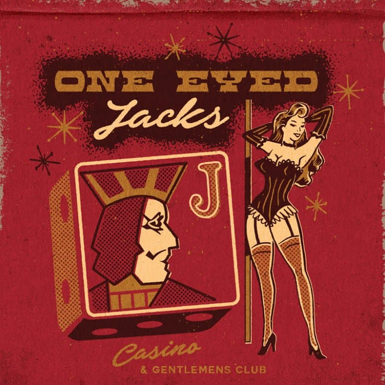 One Eyed Jacks matchbook