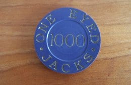 One Eyed Jacks poker chip prop