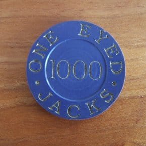 Rare One Eyed Jacks Poker Chip For Sale
