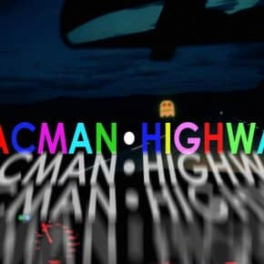 Pac-Man Meets David Lynch's Lost Highway Title Sequence