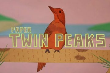 Paper Twin Peaks Intro