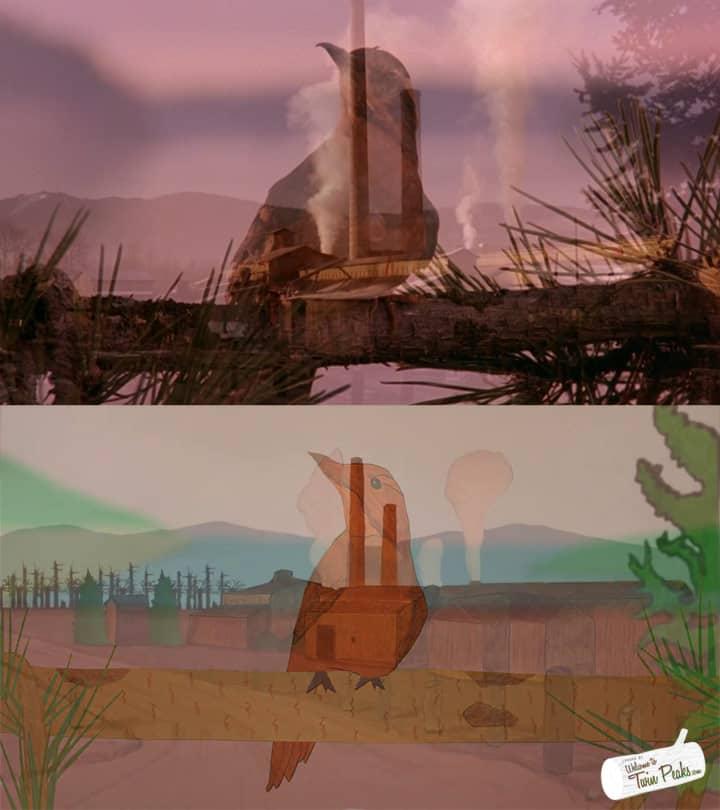 Paper Twin Peaks Intro: Bird + Packard Sawmill crossfade