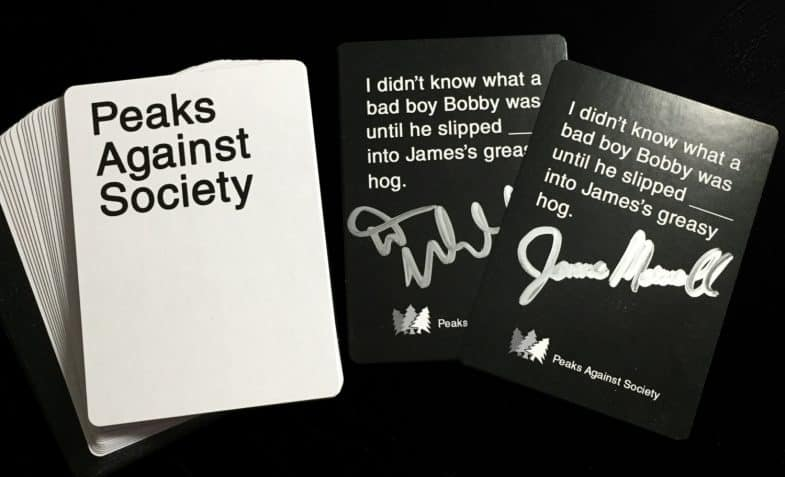 Twin Peaks CAH pack signed by James Marshall and Dana Ashbrook