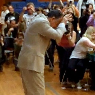 Ray Wise doing the Leland Shuffle at the 2011 Twin Peaks Fest