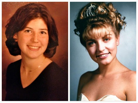 Real Laura Palmer (left) and Sheryl Lee as Laura Palmer