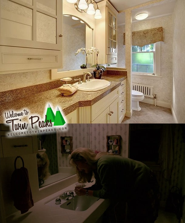 Laura Palmer's house: the bathroom