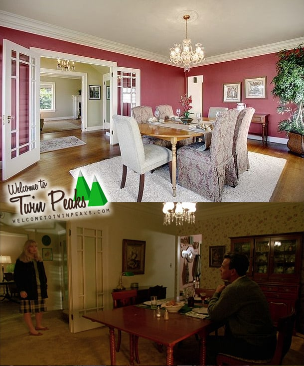 Laura Palmer's house: the dining room