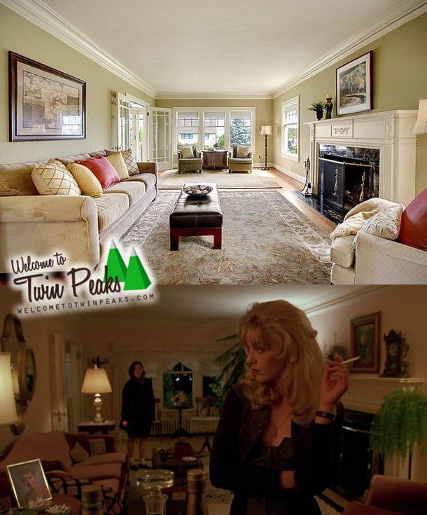 Laura Palmer's house: the living room