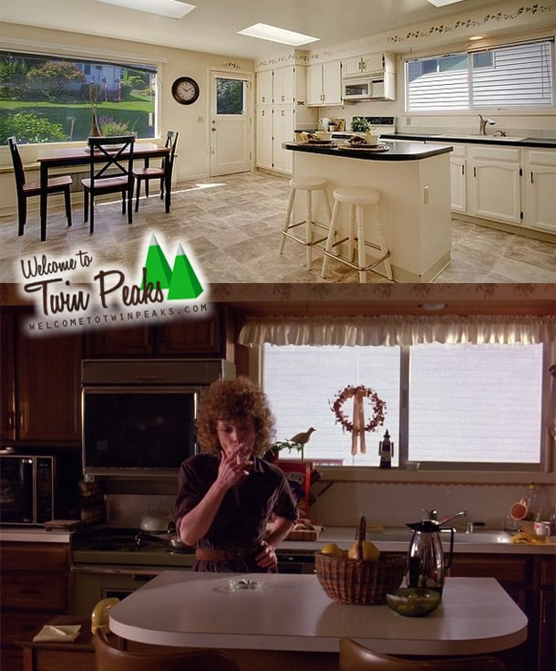 Laura Palmer's house: the kitchen in the pilot