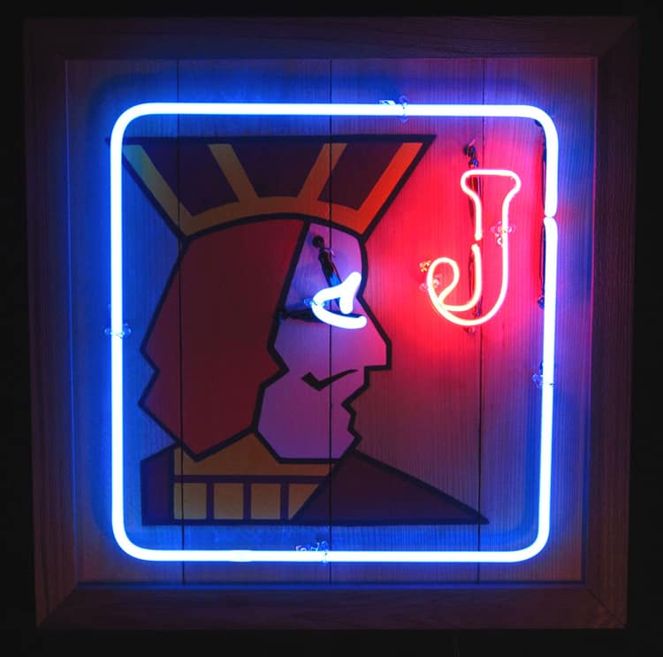 Rick Zar & Meesha Golderg - One Eyed Jack Neon Sign