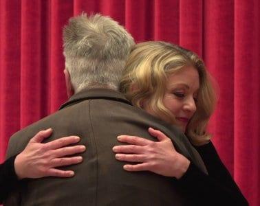 David Lynch & Sheryl Lee hugging