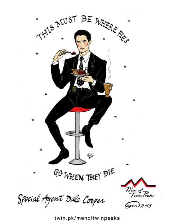 Special Agent Dale Cooper pin-up