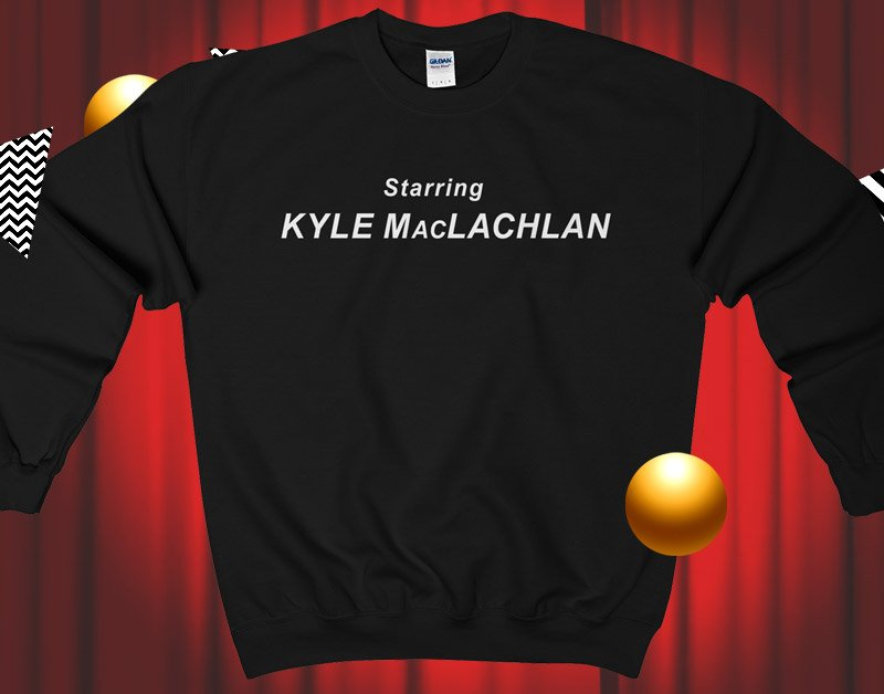 Starring Kyle MacLachlan crew neck sweater