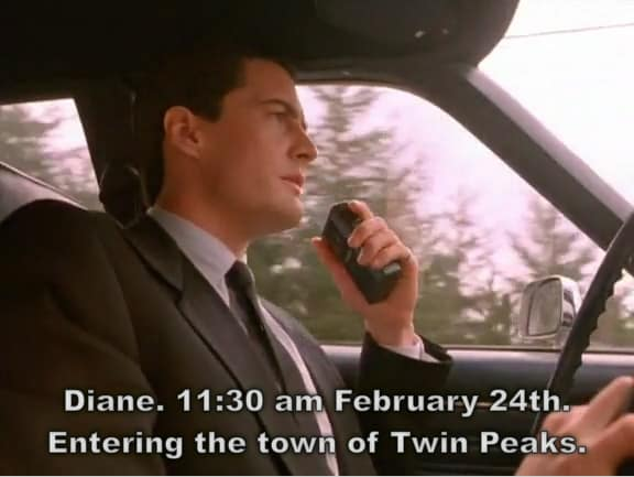 Entering the town of Twin Peaks