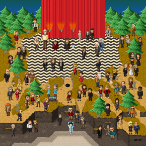 Super Twin Peaks Pixel Art Featuring 76 Characters
