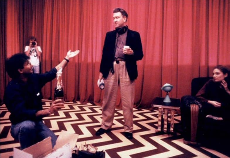 David Lynch in the Red Room directing the last episode of Twin Peaks in 1991