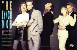 Lara Flynn Boyle, James Marshall, Dana Ashbrook, Sheryl Lee and Eric Da Re in Twin Peaks fashion spread
