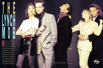 Lara Flynn Boyle, James Marshall, Dana Ashbrook, Sheryl Lee and Eric Da Re in Twin Peaks fashion spread