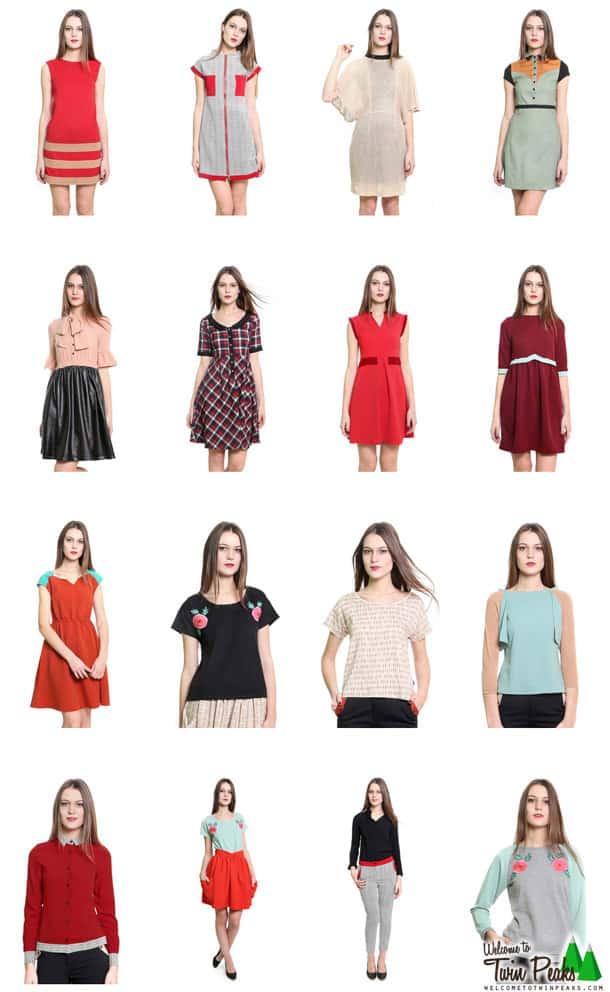 Twin peaks audrey style dresses