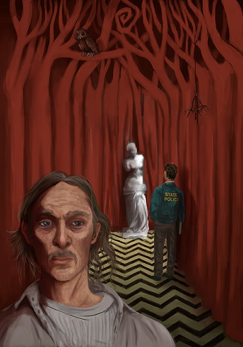 Rust Cohle inside the Black Lodge