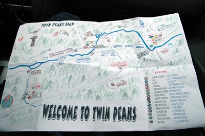 Twede's map to Twin Peaks filming locations