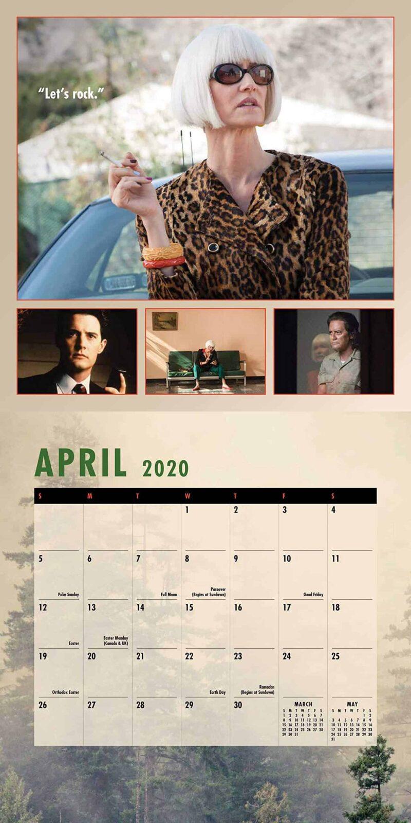 Twin Peaks 2020 Calendar April