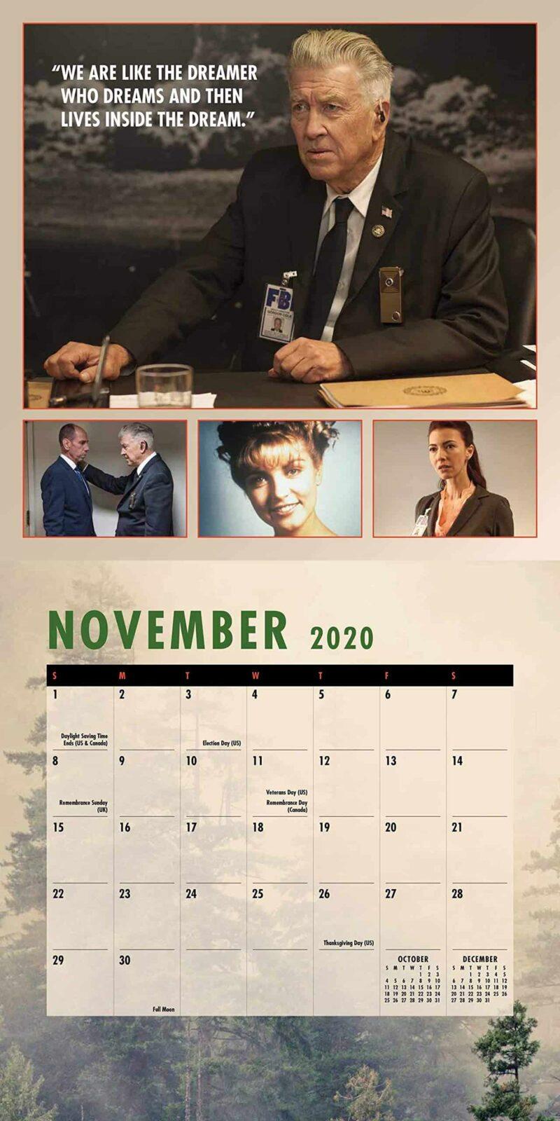 Twin Peaks 2020 Calendar November