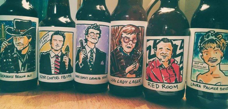 Twin Peaks beer bottle labels