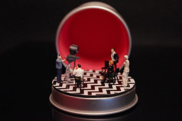Twin Peaks miniature/diorama by Boxartig: The Black Lodge