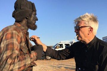 Twin Peaks Blu-ray/DVD: Behind the Scenes Footage Robert Broski (Woodsman) and David Lynch