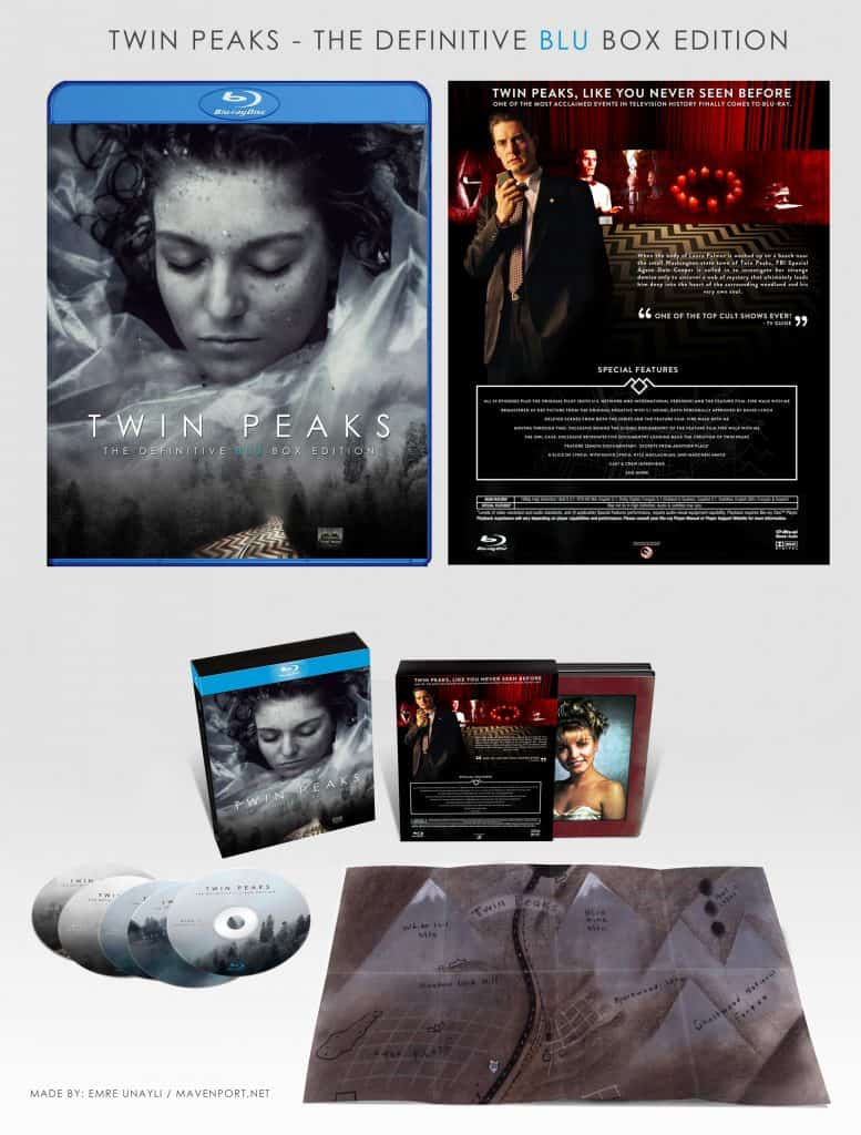 Twin Peaks Blu-ray set design by Mavenport