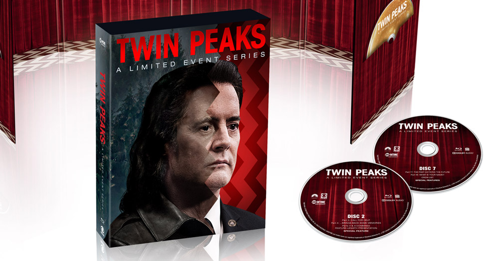 peek   twin peaks  limited event series blu ray dvd box set packaging