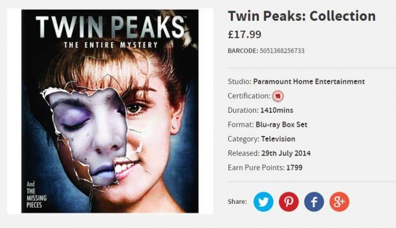 Twin Peaks Blu-ray deal
