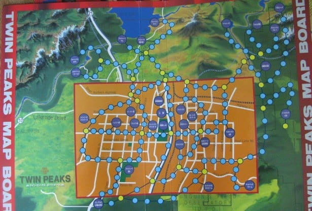 Twin Peaks Board Game map