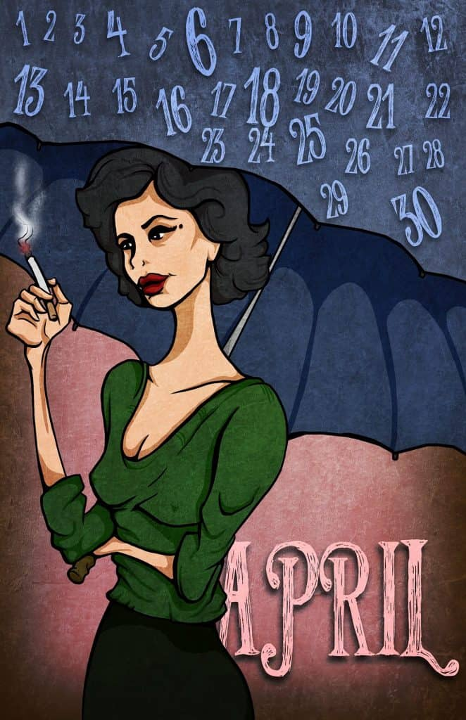 Twin Peaks calendar: Audrey Horne