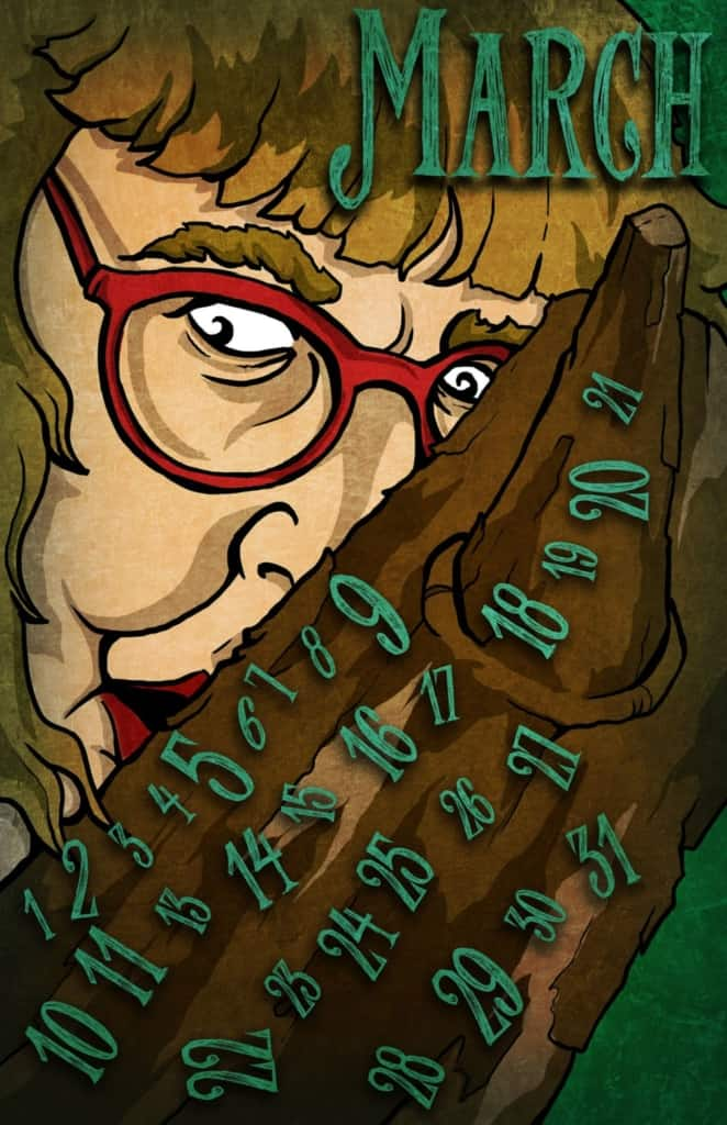 Twin Peaks calendar: The Log Lady