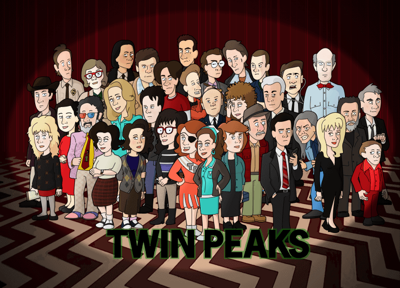 Twin Peaks cast as cartoon characters by neoalxtopi
