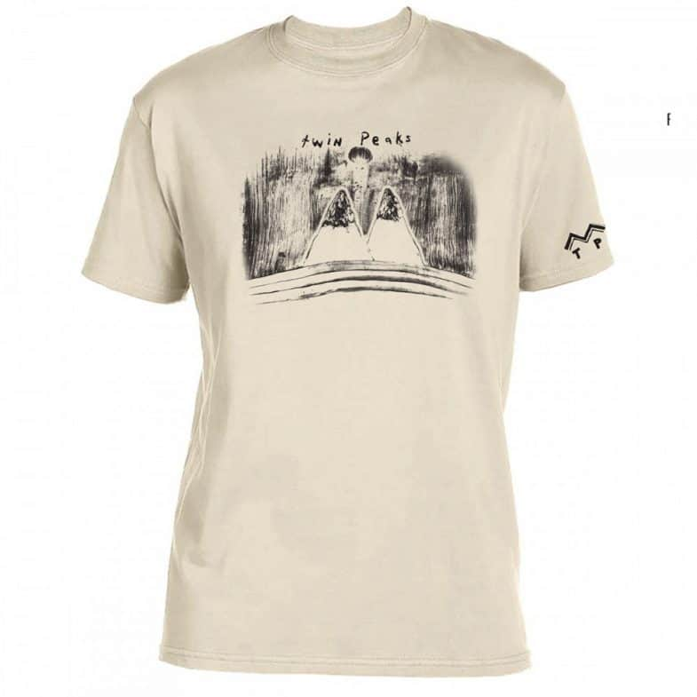 Twin Peaks mountains by David Lynch t-shirt
